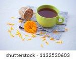 marigold or calendula herbal... | Shutterstock . vector #1132520603