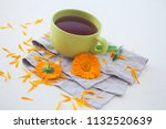 marigold or calendula herbal... | Shutterstock . vector #1132520639