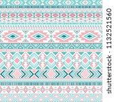 ethnic mexican tribal motifs...   Shutterstock .eps vector #1132521560