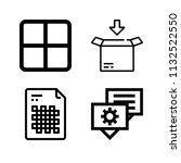 interface related set of 4... | Shutterstock . vector #1132522550