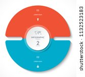 infographic circle chart.... | Shutterstock .eps vector #1132523183