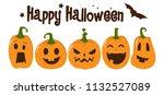 halloween greeting vector... | Shutterstock .eps vector #1132527089