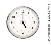 realistic clock face showing 05 ... | Shutterstock .eps vector #1132527446