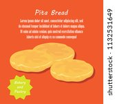 pita bread french and danish...   Shutterstock .eps vector #1132531649