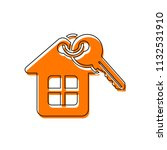 house with key. isolated icon... | Shutterstock .eps vector #1132531910