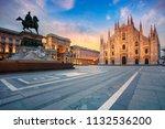 milan. cityscape image of milan ... | Shutterstock . vector #1132536200