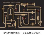 abstract symbolic heat supply... | Shutterstock .eps vector #1132536434