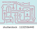 abstract symbolic heating... | Shutterstock .eps vector #1132536440