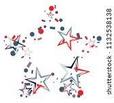 star shaped christmas colorful... | Shutterstock .eps vector #1132538138