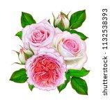 flower composition. a bouquet... | Shutterstock . vector #1132538393