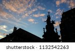silhouette of church statues at ... | Shutterstock . vector #1132542263