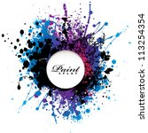 grunge gothic paint splat with... | Shutterstock .eps vector #113254354