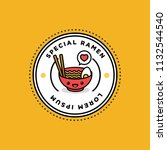 ramen bowl badge and sticker... | Shutterstock .eps vector #1132544540