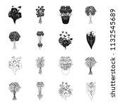 a bouquet of fresh flowers... | Shutterstock . vector #1132545689