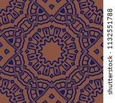 seamless floral geometric... | Shutterstock .eps vector #1132551788