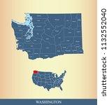 washington county map vector... | Shutterstock .eps vector #1132552040