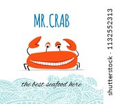 funny crab  banner for your... | Shutterstock .eps vector #1132552313