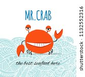 funny crab  banner for your... | Shutterstock .eps vector #1132552316
