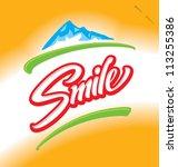 'smile' hand lettering  ... | Shutterstock .eps vector #113255386