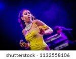 kali uchis performance at rock...   Shutterstock . vector #1132558106