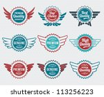 retro  vintage  badge and label ... | Shutterstock .eps vector #113256223