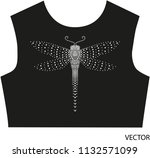 rhinestone applique dragonfly... | Shutterstock .eps vector #1132571099