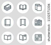 vector illustration of 9 book... | Shutterstock .eps vector #1132571336