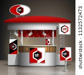 classic exhibition stand design ... | Shutterstock .eps vector #1132572473