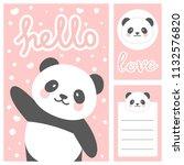 panda vector print  baby shower ... | Shutterstock .eps vector #1132576820