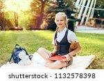 portrait of beautiful... | Shutterstock . vector #1132578398