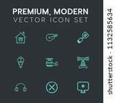 modern  simple vector icon set... | Shutterstock .eps vector #1132585634