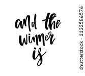 and the winner is  giveaway... | Shutterstock .eps vector #1132586576