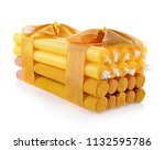 incense stick and candles for... | Shutterstock . vector #1132595786