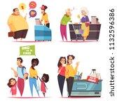 queues characters concept 4... | Shutterstock .eps vector #1132596386