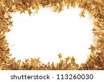 christmas gold tinsel as a... | Shutterstock . vector #113260030