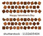happy valentine's day ... | Shutterstock .eps vector #1132605404