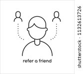vector refer a friend icon in... | Shutterstock .eps vector #1132613726