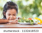 asian child does not like to... | Shutterstock . vector #1132618523