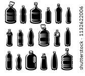 bottles water set. vector | Shutterstock .eps vector #1132622006