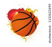 basketball ball with abstract... | Shutterstock .eps vector #1132622690
