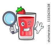 detective strawberry mojito... | Shutterstock .eps vector #1132623638