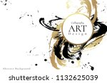 abstract ink background.... | Shutterstock .eps vector #1132625039