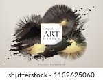 abstract ink background.... | Shutterstock .eps vector #1132625060