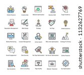 web and seo flat vector icons  | Shutterstock .eps vector #1132627769