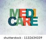 medicine concept  painted... | Shutterstock . vector #1132634339
