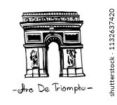 triumphal arch landmark of... | Shutterstock .eps vector #1132637420