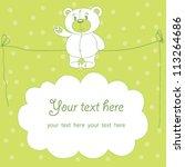 cute teddy bear vector with... | Shutterstock .eps vector #113264686