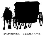 old carriage and a team of... | Shutterstock .eps vector #1132647746