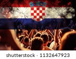 victory for croatia football... | Shutterstock . vector #1132647923