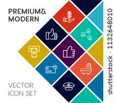 modern  simple vector icon set... | Shutterstock .eps vector #1132648010